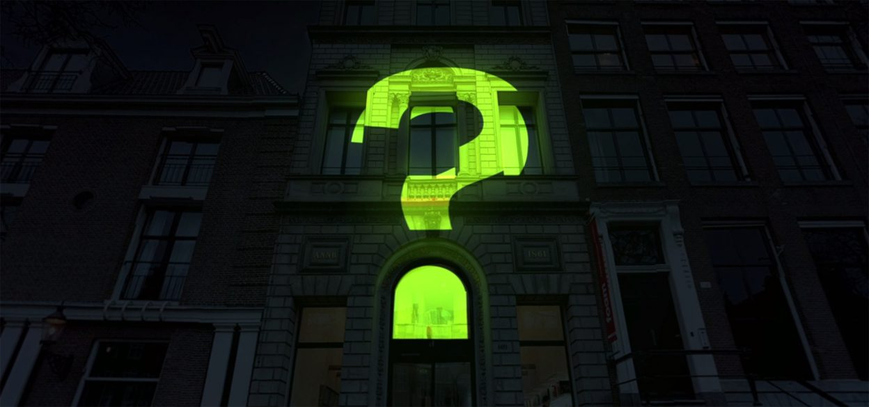 Projection mapping on the Photography Museum Amsterdam