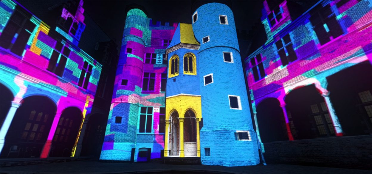 Projection mapping by Mr.Beam studio at light festival Ghent