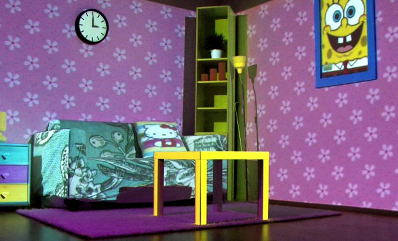 Projection mapping on furniture