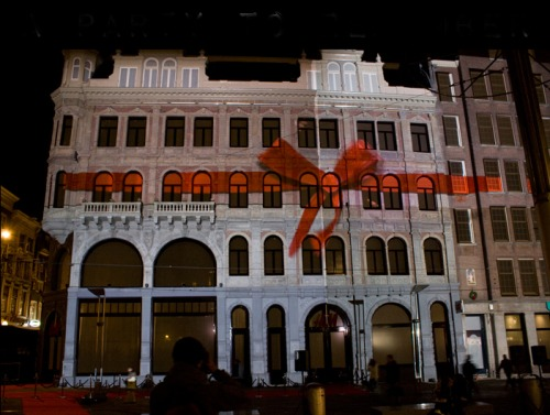 Projection mapping for the opening of H&M Amsterdam
