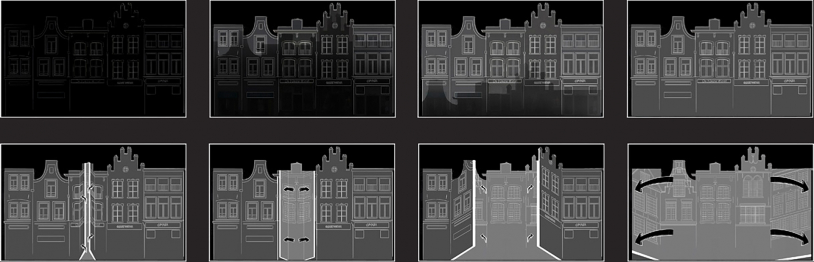 Storyboards for the Jeroen Bosch project by Mr.Beam studio