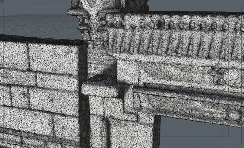 3d design of the Temple of Taffeh