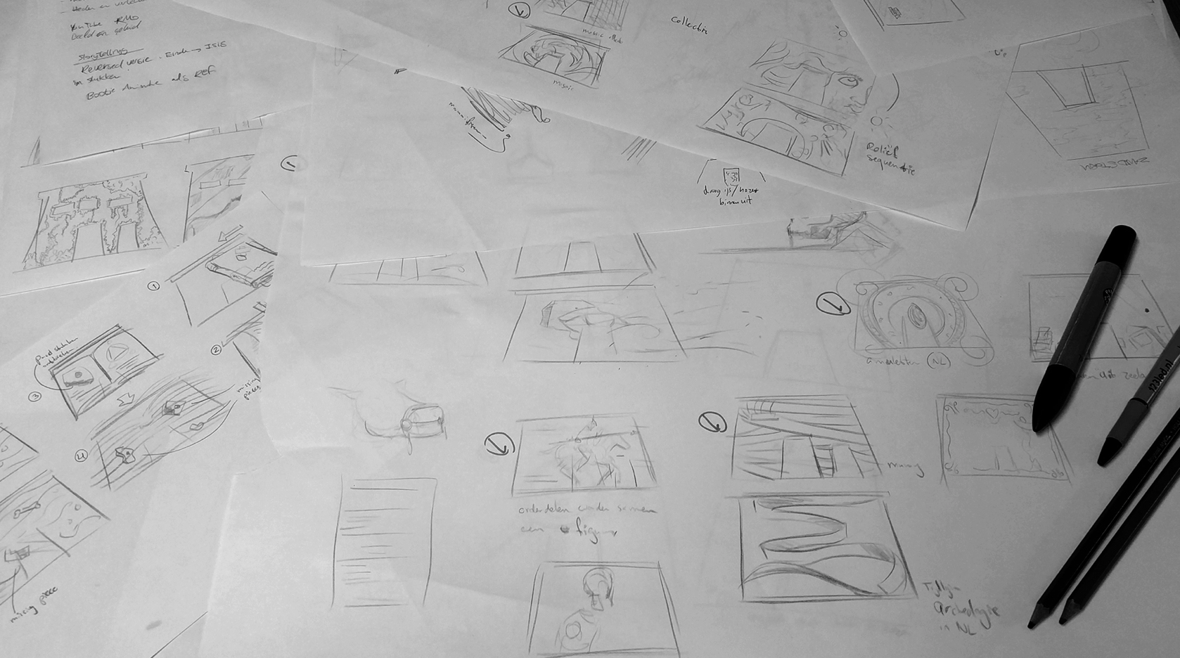 Drawings for the Temple of Taffeh