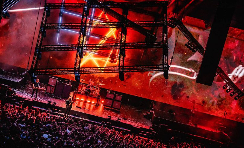 Photo of the stage design by Mr.Beam at the Kensington concert Ziggo Dome Amsterdam