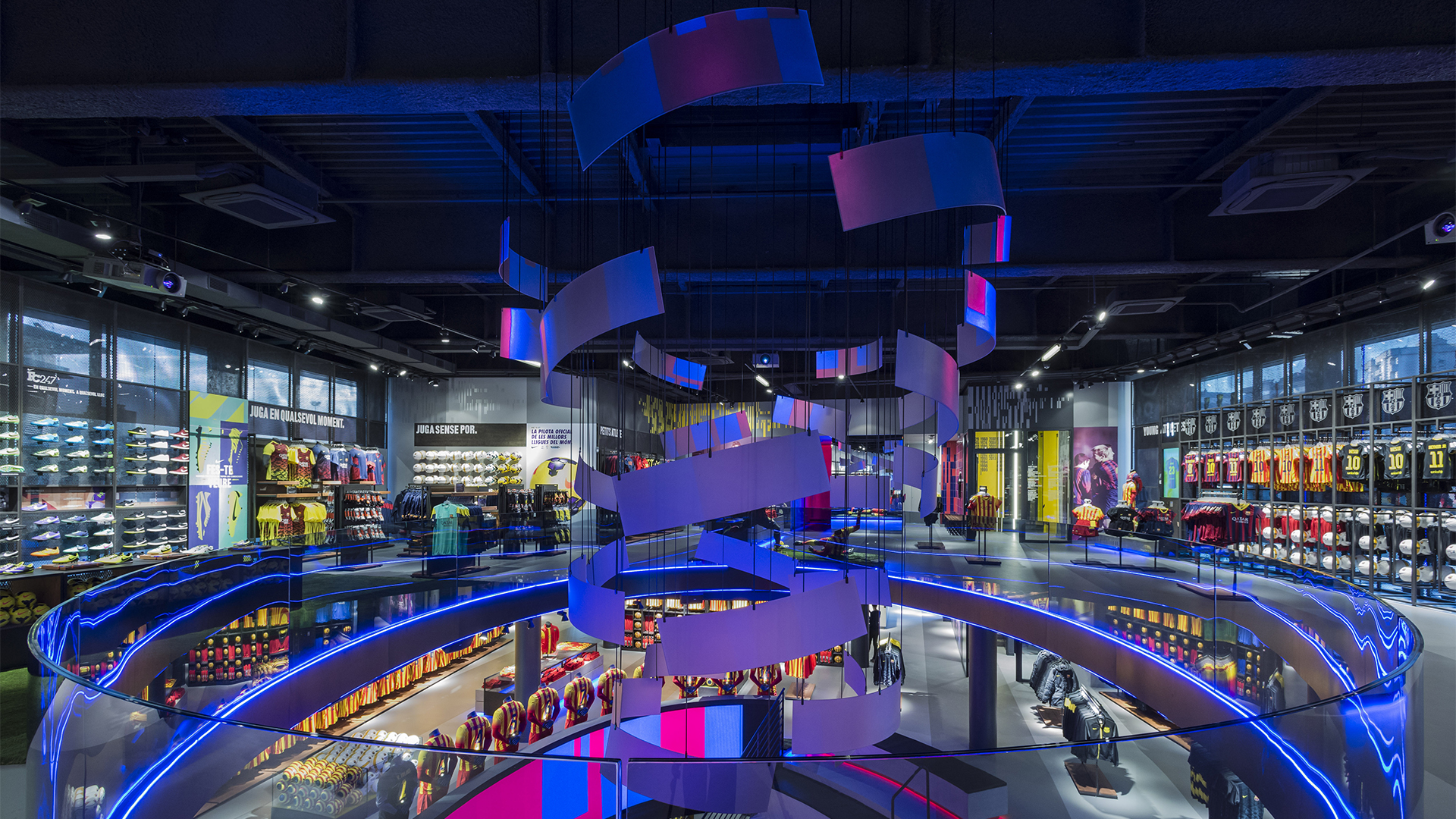 Nike Mega Store Barcelona Mr.Beam Projection Art Mapping