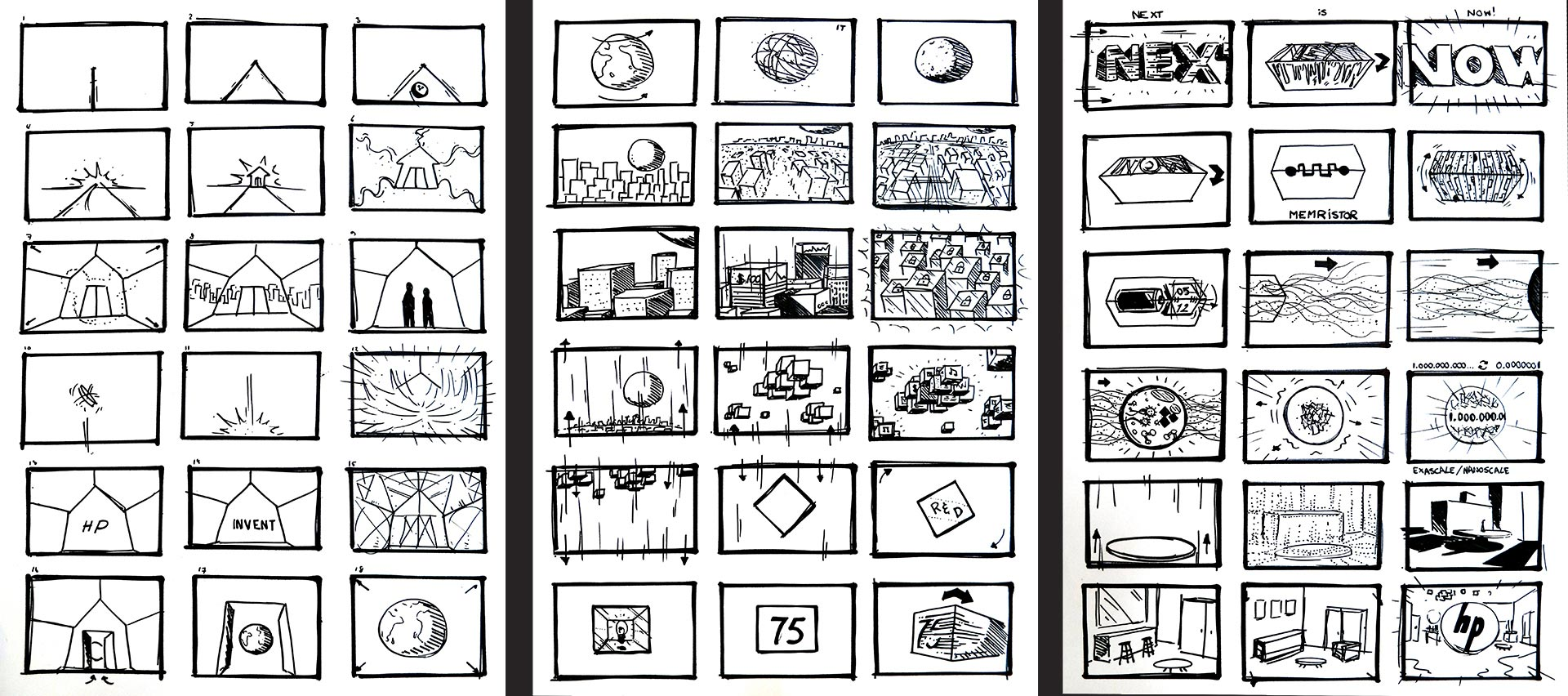 Digital storyboard for HP created by Mr.Beam