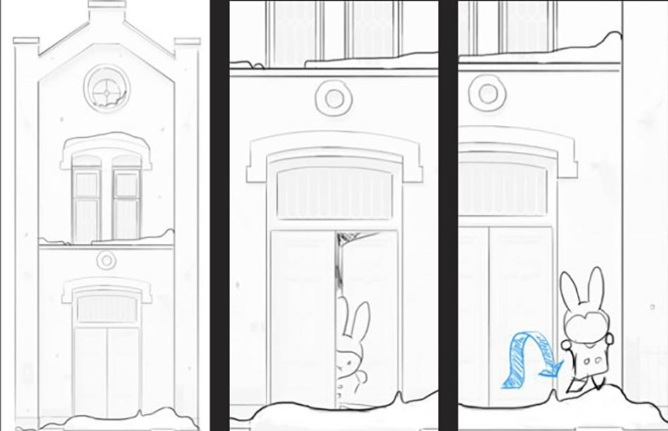 Drawings for the Miffy Museum projection mapping project
