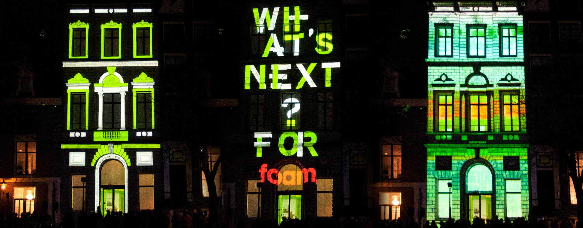 Fragment of the projection mapping show at the FOAM Photography Museum Amsterdam
